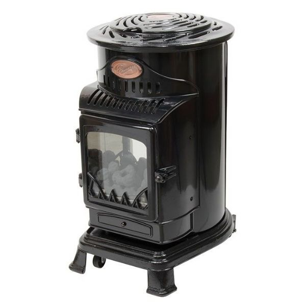 Gloss Black Provence Living Flame Heater